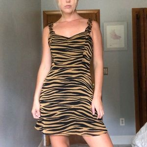 Edgy Tiger Stripped Dress 😸